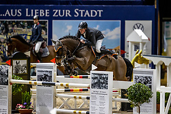 WERNKE Jan (GER), Nashville HR<br /> Grand Prix von Volkswagen<br /> Int. jumping competition over two rounds (1.55 m) - CSI3*<br /> Comp. counts for the LONGINES Rankings<br /> Braunschweig - Classico 2020<br /> 08. März 2020<br /> © www.sportfotos-lafrentz.de/Stefan Lafrentz