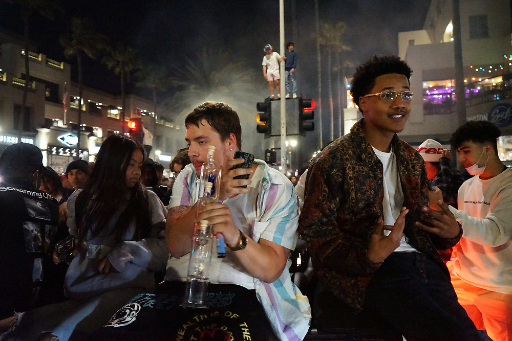 """""""Adrian's Kickback"""" was a viral TikTok 17-year- old Adrian Lopez posted that ended in three nights of chaos in Huntington Beach ca"""