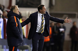Scotland interim manager Malky Mackat (right) and Netherlands manager Dick Advocaat on the touchline during the International Friendly match at Pittodrie, Aberdeen. PRESS ASSOCIATION Photo. Picture date: Thursday November 9, 2017. See PA story SOCCER Scotland. Photo credit should read: Andrew Milligan/PA Wire. RESTRICTIONS: Use subject to Scottish FA restrictions. Editorial use only. Commercial use only with prior written consent of the Scottish FA. No editing except cropping.