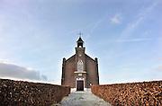 Nederland, Homoet, 13-1-2012Nederlands Hervormde kerk van Homoet.In de periode 1823 tm 1849 zijn er in Gerlderland 13 protestantse Waterstaatskerken gebouwd.In de gemeente Over-Betuwe is alleen het kerkje van Homoet bewaard gebleven. Foto: Flip Franssen