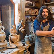 A portrait of a Romanian potter. Romania