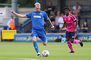 Wimbledon midfielder Mitchell (Mitch) Pinnock (11) passing the ball during the Pre-Season Friendly match between AFC Wimbledon and Queens Park Rangers at the Cherry Red Records Stadium, Kingston, England on 14 July 2018. Picture by Matthew Redman.
