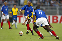 FOOTBALL - CONFEDERATIONS CUP 2003 - GROUP A - 030618 - FRANCE v COLUMBIA - OLIVIER DACOURT (FRA) - PHOTO GUY JEFFROY / DIGITALSPORT
