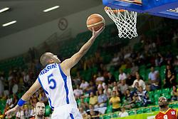 Afik Nissim #5 of Israel during basketball match between National teams of Israel and Belgium at Day 5 of Eurobasket 2013 on September 8, 2013 in Tivoli Hall, Ljubljana, Slovenia. (Photo By Urban Urbanc / Sportida)