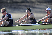 Putney. London. left to right . OUBC Blue Boat stroke, Simon HISLOP, George WHITTAKER and Constantine LOULOUDIS, during the morning training  session, Tideway Week - build up to the  2011 University Boat Race, Championship Course - Putney to Mortlake. Monday  21/03/2011 [Mandatory Credit; Peter Spurrier/Intersport-images]..OUBC. Bow; Moritz HAFNER, Ben MYERS, Alec DENT, Ben ELLISON, Karl HUDSPITH, Constantine LOULOUDIS, George WHITTAKER, Stroke Simon HISLOP and cox Sam WINTER-LEVY 2011 Tideway Week