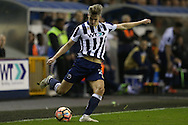 Steve Morison of Millwall in action. The Emirates FA Cup 3rd round match, Millwall v AFC Bournemouth at The Den in London on Saturday 7th January 2017.<br /> pic by John Patrick Fletcher, Andrew Orchard sports photography.
