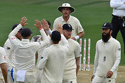 March 23, 2018 - Auckland, Auckland, New Zealand - England celebrates wicket of Kane Williams of Blackcaps is during Day Two of the First Test match between New Zealand and England at Eden Park in Auckland on Mar 23, 2018. (Credit Image: © Shirley/Pacific Press via ZUMA Wire)