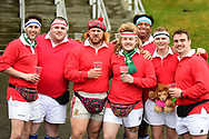 Fans get in the mood before the European Rugby Challenge Cup match between Gloucester Rugby and Stade Francais at BT Murrayfield, Edinburgh, Scotland on 12 May 2017. Photo by Kevin Murray.