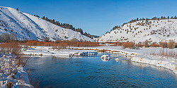 Salt River Narrows Panorama, Afton Wyomng.   <br /> <br /> This is a large 425 megabyte file, 1X2 ratio that can be printed at 8-foot by 4-feet at 180 DPI native resolution. Must contact me directly for huge custom panoramas.
