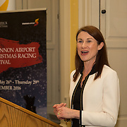 08.12.2016                   <br /> Pictured at the launch of the Shannon Airport Christmas Racing Festival at Hunt Museum was Mary Considine, Shannon Group. Picture: Alan Place