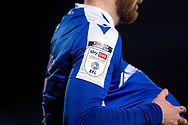 Sky Bet League One logo is visible during the EFL Sky Bet League 1 match between Gillingham and Peterborough United at the MEMS Priestfield Stadium, Gillingham, England on 16 February 2021.