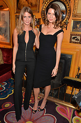 Left to right, MILLIE MACKINTOSH and GABRIELA PEACOCK at the launch of GP Nutrition held at Annabel's, 44 Berkeley Square, London on 26th January 2016.