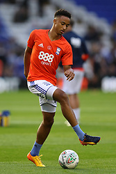 Birmingham City's Cohen Bramall warms up before the game