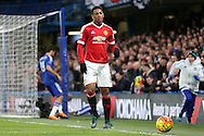 Anthony Martial of Manchester United looks on. Barclays Premier league match, Chelsea v Manchester Utd at Stamford Bridge in London on Sunday 7th February 2016.<br /> pic by John Patrick Fletcher, Andrew Orchard sports photography.