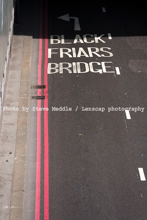 Blackfriars Underpass Road, London, Britain - Aug 2013.