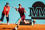 Jannik Sinner of Italy in action during his Men's Singles match, round of 64, against Guido Pella of Argentina on the Mutua Madrid Open 2021, Masters 1000 tennis tournament on May 4, 2021 at La Caja Magica in Madrid, Spain - Photo Oscar J Barroso / Spain ProSportsImages / DPPI / ProSportsImages / DPPI