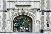 Students on campus of Princeton University, New Jersey, USA