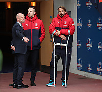Football - 2016 / 2017 Scottish League Cup - Semi-Final - Celtic vs. Rangers<br /> <br /> Niko Kranjčar of Rangers injured in the tunnel before the match at Hampden Park.<br /> <br /> COLORSPORT/LYNNE CAMERON