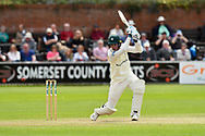 Josh Tongue of Worcestershire batting during the Specsavers County Champ Div 1 match between Somerset County Cricket Club and Worcestershire County Cricket Club at the Cooper Associates County Ground, Taunton, United Kingdom on 22 April 2018. Picture by Graham Hunt.