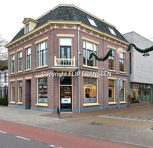 Nederland, Winterswijk, 10-1-2019Villa Mondriaan is een museum in Winterswijk, gewijd aan het het werk van de jonge Piet Mondriaan. Mondriaan woonde in zijn jeugdjaren in Winterswijk. Het museum omvat de villa, het hoekhuis ernaast en een moderne aanbouw aan de centrumzijde .Foto: Flip Franssen