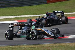 Nico Hulkenberg (GER) Sahara Force India F1 VJM09.<br /> 02.10.2016. Formula 1 World Championship, Rd 16, Malaysian Grand Prix, Sepang, Malaysia, Sunday.<br /> Copyright: Photo4 / XPB Images / action press