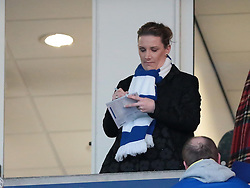 X factor winner, Sam Bailey does her celeb stuff at the start of the match - Photo mandatory by-line: Nigel Pitts-Drake/JMP - Tel: Mobile: 07966 386802 29/12/2013 - SPORT - FOOTBALL - King Power Stadium - Leicester - Leicester City v Bolton Wanderers - Sky Bet Championship