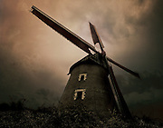 An old stone windmill in Achicourt, France