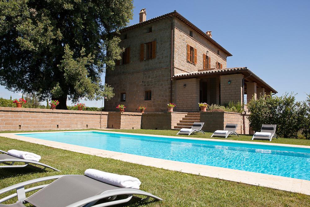 Villa San Donato in Italy, on the border between Tuscany and Lazio. The pool.