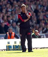 Fotball<br /> 2004/2005<br /> Foto: SBI/Digitalsport<br /> NORWAY ONLY<br /> <br /> The Barclays Premiership.<br /> <br /> Southampton v Manchester City<br /> 02.10.2004<br /> <br /> Steve Wigley looks pensive.