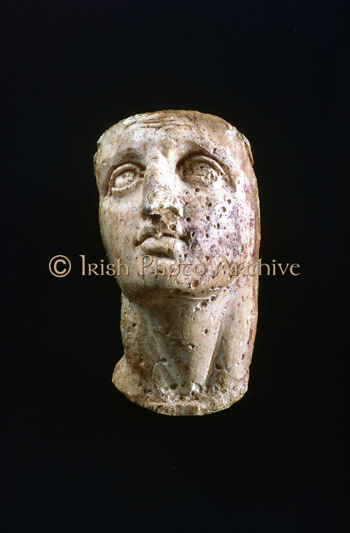 Alexander the Great (356-323 BC), Alexander III of Macedon. Portrait bust of a young Alexander.   Ancient Olympia Museum