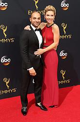 Michael Mando, Rhea Seehorn  bei der Verleihung der 68. Primetime Emmy Awards in Los Angeles / 180916<br /> <br /> *** 68th Primetime Emmy Awards in Los Angeles, California on September 18th, 2016***
