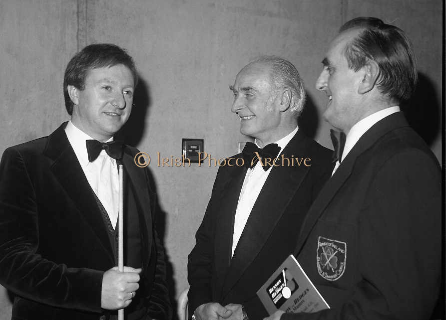 1980-05-01.1st May 1980.01-05-1980.05-01-80..Photographed at Goffs, Kill, Co Kildare..Snooker triangle:..Denis Taylor speaking with tournament officials at the Benson and Hedges Irish Masters Snooker Competition.