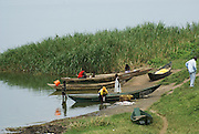 Uganda, Lake Edward, Fishing Boats