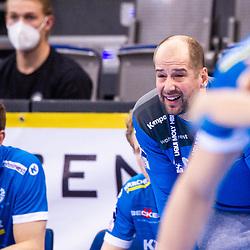 Juergen Schweikardt (Trainer TVB Stuttgart) ; 1. Handball-Bundesliga, HBL: TVB Stuttgart - HSC 2000 Coburg am 06.02.2021 in Stuttgart (PORSCHE Arena), Baden-Wuerttemberg<br /> <br /> Foto © PIX-Sportfotos *** Foto ist honorarpflichtig! *** Auf Anfrage in hoeherer Qualitaet/Aufloesung. Belegexemplar erbeten. Veroeffentlichung ausschliesslich fuer journalistisch-publizistische Zwecke. For editorial use only.