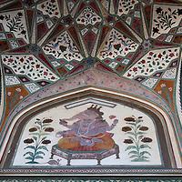 Asia, India, Amer. Ganesh at Amber Palace.