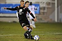 Fotball<br /> Treningskamp<br /> Haugesund v Sogndal<br /> 05.03.2011<br /> Foto: Morten Olsen, Digitalsport<br /> <br /> Thomas Sørum - Haugesund<br /> Per Egil Flo - Sogndal