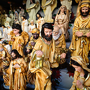 Religious figures for in the bustling Mercado Central in the center of Guatemala City near Parque Central.