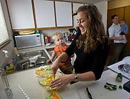 Danielle Jantzen her husband Jason and children for Seattle's Child Magazine.