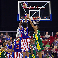 Exhibition match of Harlem Globetrotters basketball team against the Washington Generals held in Laszlo Papp Budapest Sports Arena, Budapest, Hungary. Tuesday, 23. March 2010. ATTILA VOLGYI