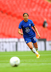 Sam Kerr of Chelsea Women in action - Mandatory by-line: Nizaam Jones/JMP - 29/08/2020 - FOOTBALL - Wembley Stadium - London, England - Chelsea v Manchester City - FA Women's Community Shield