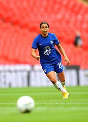 Sam Kerr of Chelsea Women in action - Mandatory by-line: Nizaam Jones/JMP - 29/08/2020 - FOOTBALL - Wembley Stadium - London, England - Chelsea v Manchester City - FA Women's Community Shield