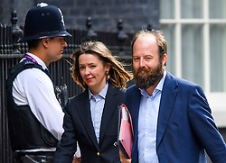 © Licensed to London News Pictures. 14/07/2016. London, U.K. FIONA HILL (left) NICK TIMOTHY (right) advisors to Theresa May, arriving at 10 Downing Street in London for Theresa May's first full day as British prime minister. Photo credit: Ben Cawthra/LNP