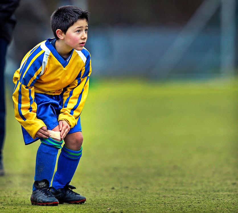 The Netherlands, Amsterdam, 17-01-2004.<br /> Football, Pupillen-F, Friendly game..<br /> Time : 11.57 uur.<br /> Photo: Klaas Jan van der Weij