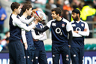 Picture by Andrew Tobin/SLIK images +44 7710 761829. 2nd December 2012. England ball boys look on during the QBE Internationals match between England and the New Zealand All Blacks at Twickenham Stadium, London, England. England won the game 38-21.