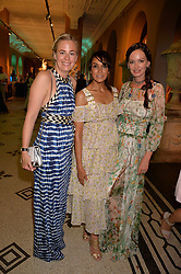 Astrid Harbord, Jackie St.Clair and Yana Max at the V&A Summer Party 2017 held at the Victoria & Albert Museum, London England. 21 June 2017.<br /> Photo by Dominic O'Neill/SilverHub 0203 174 1069 sales@silverhubmedia.com