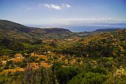 Farmland and landscape on Cephalonia Island, Greece