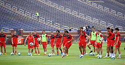 ANN ARBOR, USA - Friday, July 27, 2018: Liverpool's Pedro Chirivella during a training session ahead of the preseason International Champions Cup match between Manchester United FC and Liverpool FC at the Michigan Stadium. (Pic by David Rawcliffe/Propaganda)