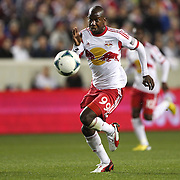 Bradley Wright-Phillips, New York Red Bulls, in action during the New York Red Bulls V Houston Dynamo , Major League Soccer second leg of the Eastern Conference Semifinals match at Red Bull Arena, Harrison, New Jersey. USA. 6th November 2013. Photo Tim Clayton