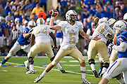 Dec 1, 2012; Tulsa, Ok, USA; University of Central Florida Knights quarterback Blake Bortles (5) makes a pass during a game against the Tulsa Hurricanes at Skelly Field at H.A. Chapman Stadium. Tulsa defeated UCF 33-27 in overtime to win the CUSA Championship. Mandatory Credit: Beth Hall-USA TODAY Sports