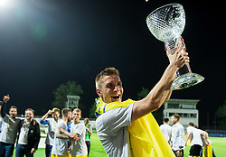Gaber Dobrovoljc of NK Domzale celebrates after winning during football match between NK Domzale and NK Olimpija Ljubljana in Final of Slovenian Cup 2017, on May 31, 2017 in Stadium Bonifika, Koper / Capodistria, Slovenia. Photo by Vid Ponikvar / Sportida
